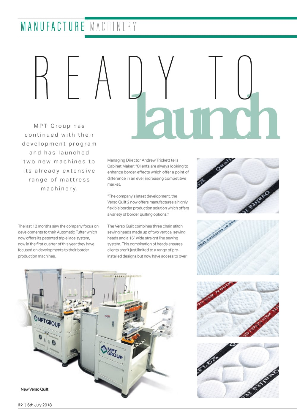 Verso Quilt – ready to launch