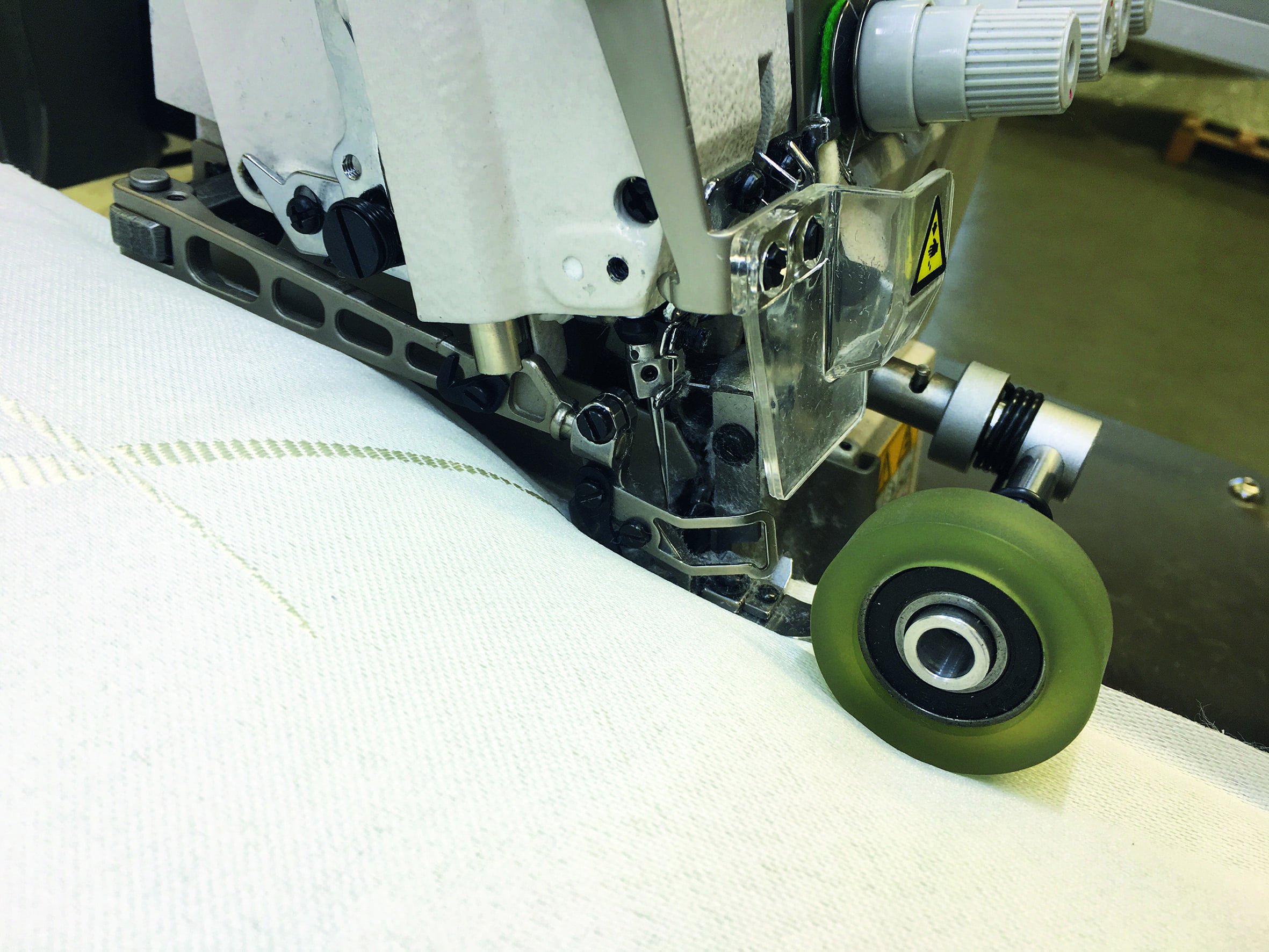High Speed dual side mattress border Serging System