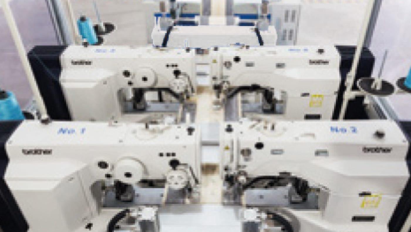 EcoTac with Integrated Overlocking Machine | mattress border machine, mattress quilting machine, mattress machinery, automatic mattress border machinery